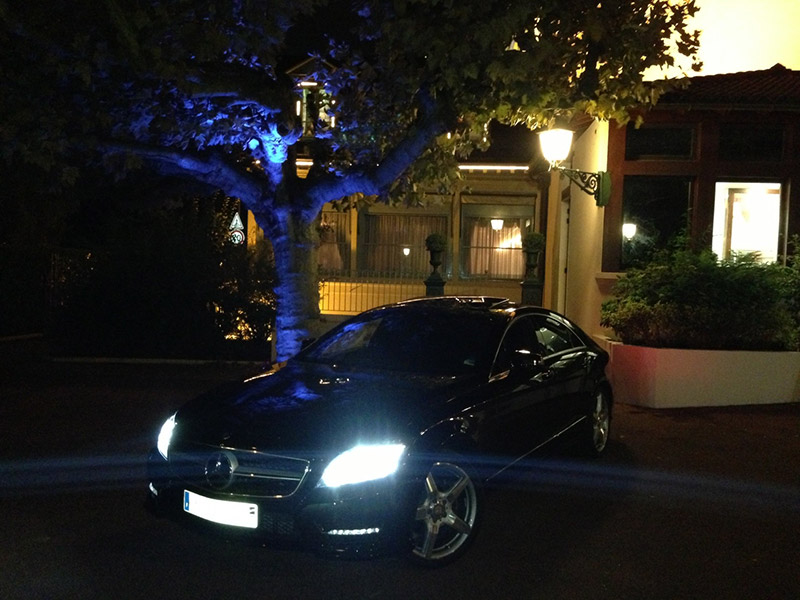 Mercedes Classe CLS Pack AMG - L'Abbaye de Collonges Paul BOCUSE