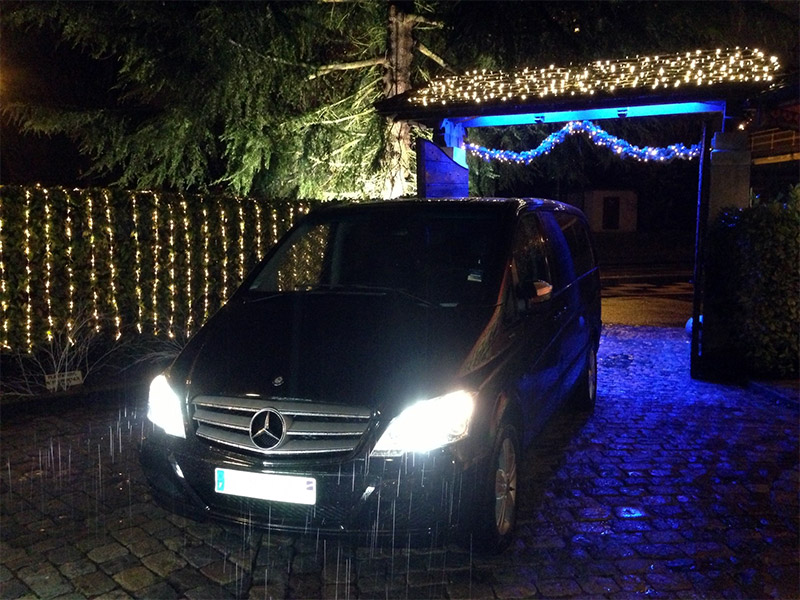 Mercedes Viano V6 - Restaurant l'Auberge du Pont de Collonges Paul Bocuse